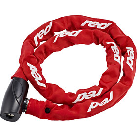 Red Cycling Products High Secure Chain Łańcuch rowerowy z zamkiem 6mm x 1000mm, red